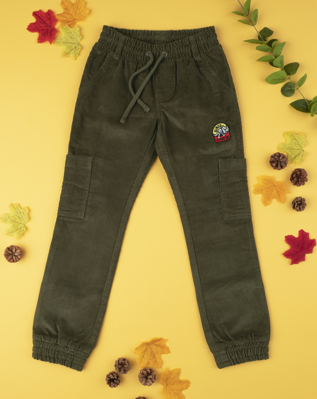 Pantalone velluto verde boy - Prénatal