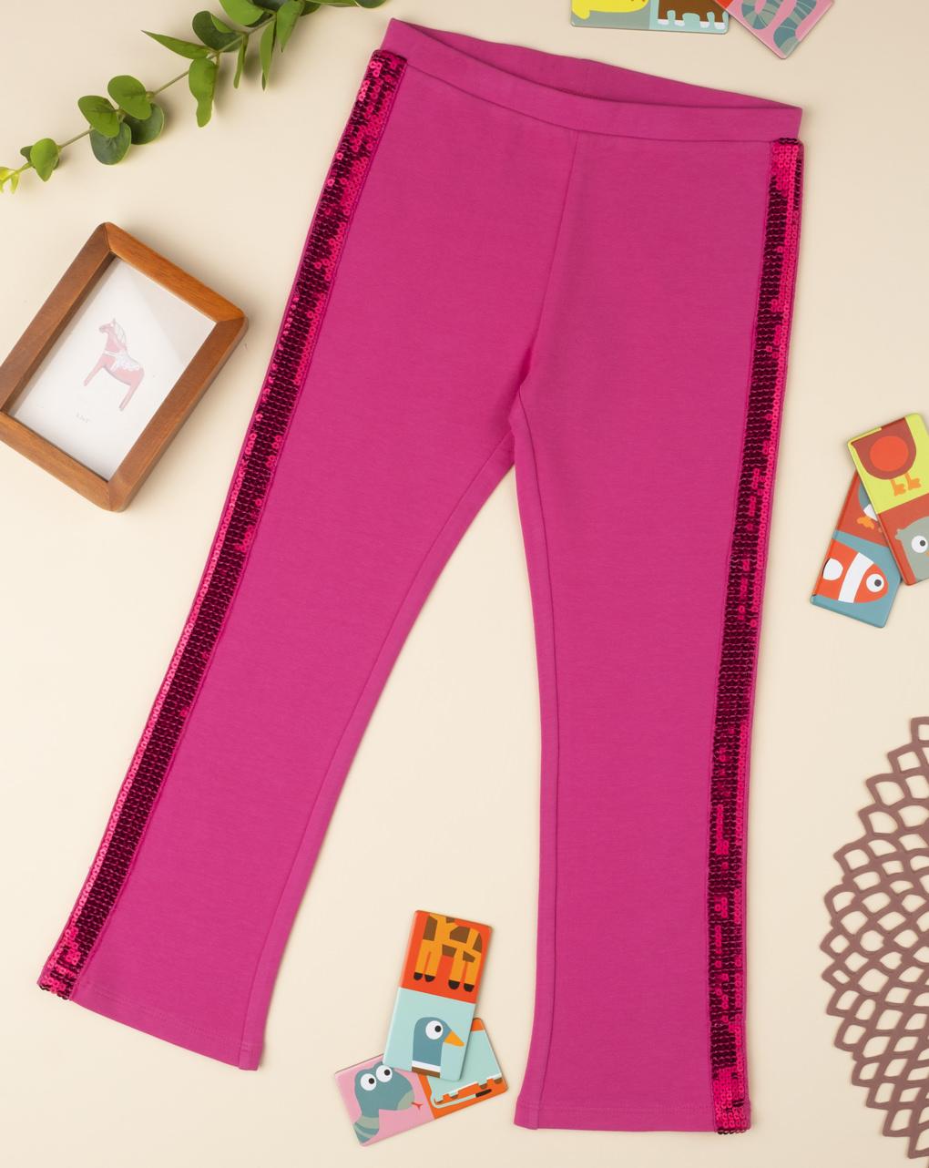 Leggings con paillettes rosa shocking - Prénatal