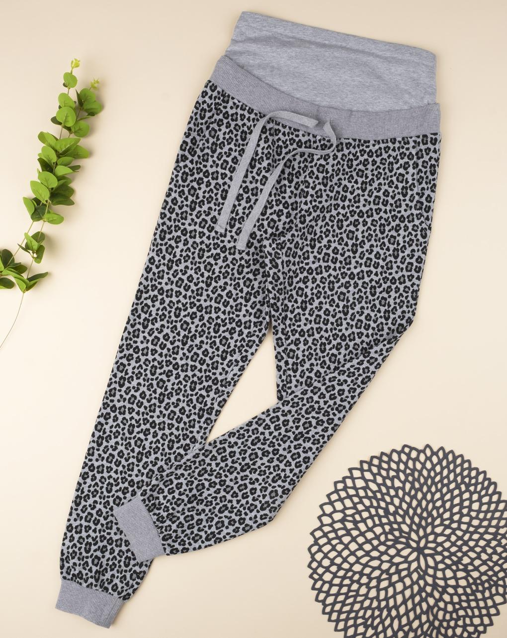 Pantalone felpato maculato grey - Prénatal