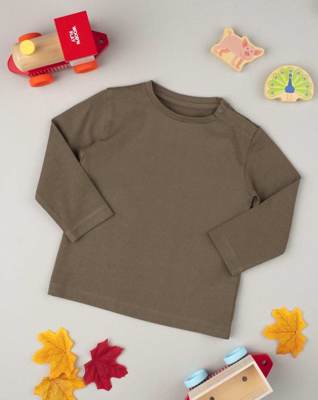 T-shirt manica lunga boy marrone - Prénatal