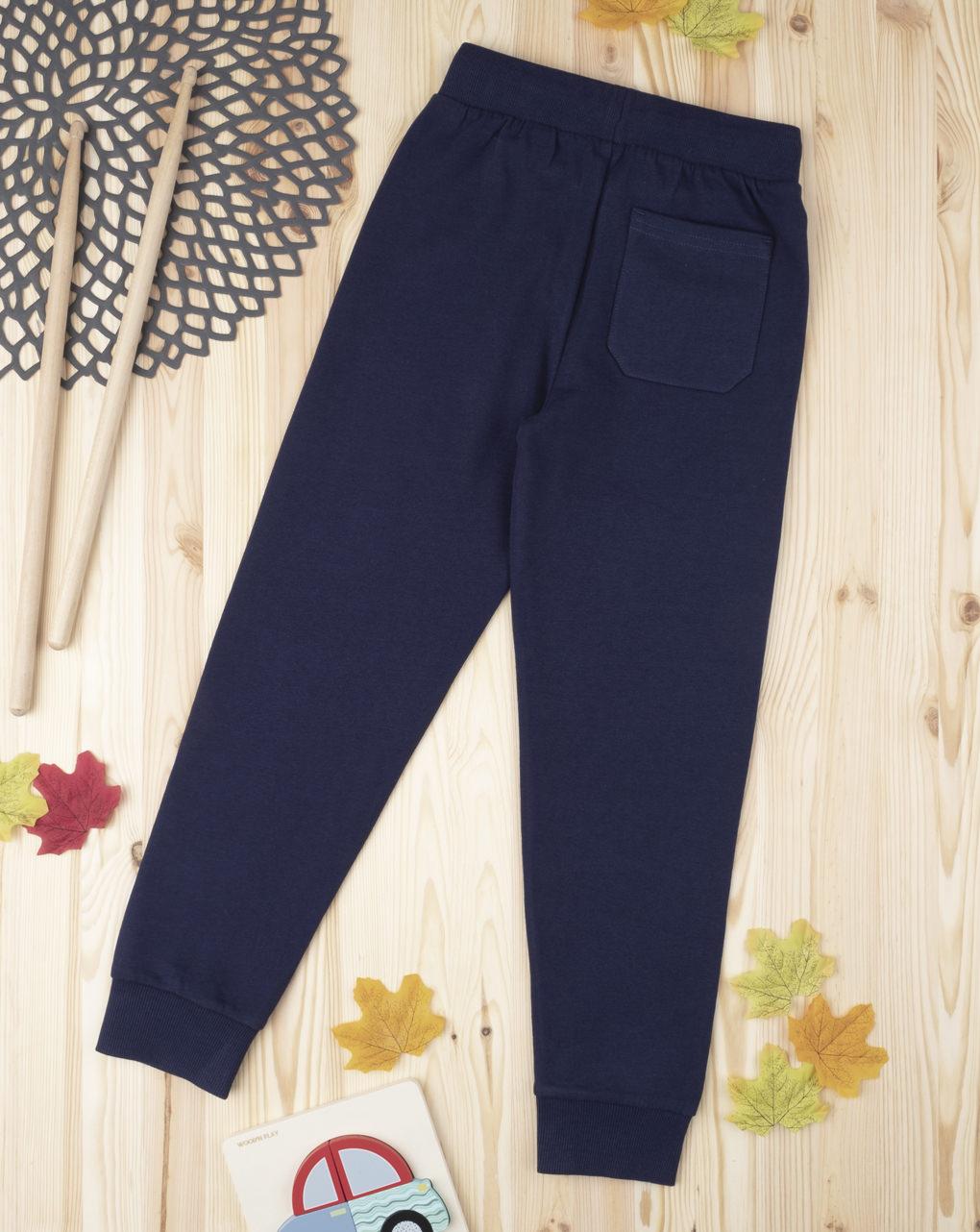 """Pantalone felpato boy """"blu scuro"""" - Prénatal"""