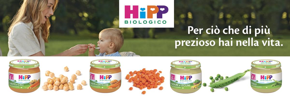 Omogeneizzati ai legumi HiPP Biologico, una novità che va  ben oltre il bio.