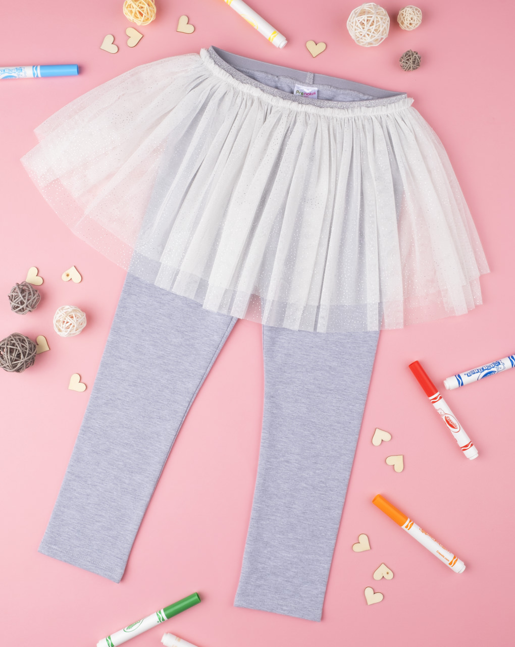 Leggings con gonna grey & white kid - Prénatal