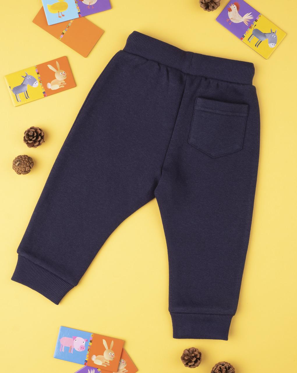 Pantalone boy blu con patch - Prénatal