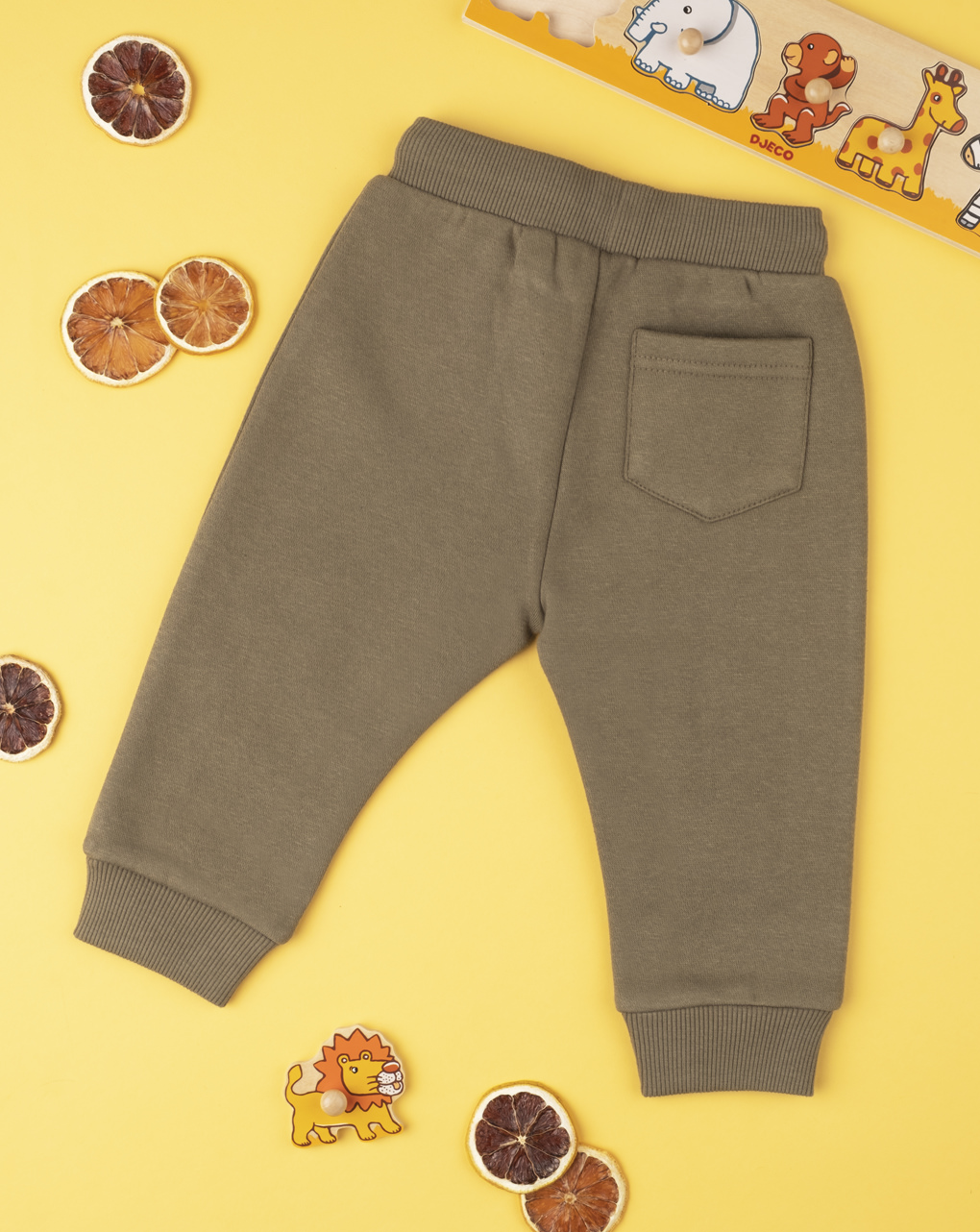 Pantalone boy green con patch - Prénatal