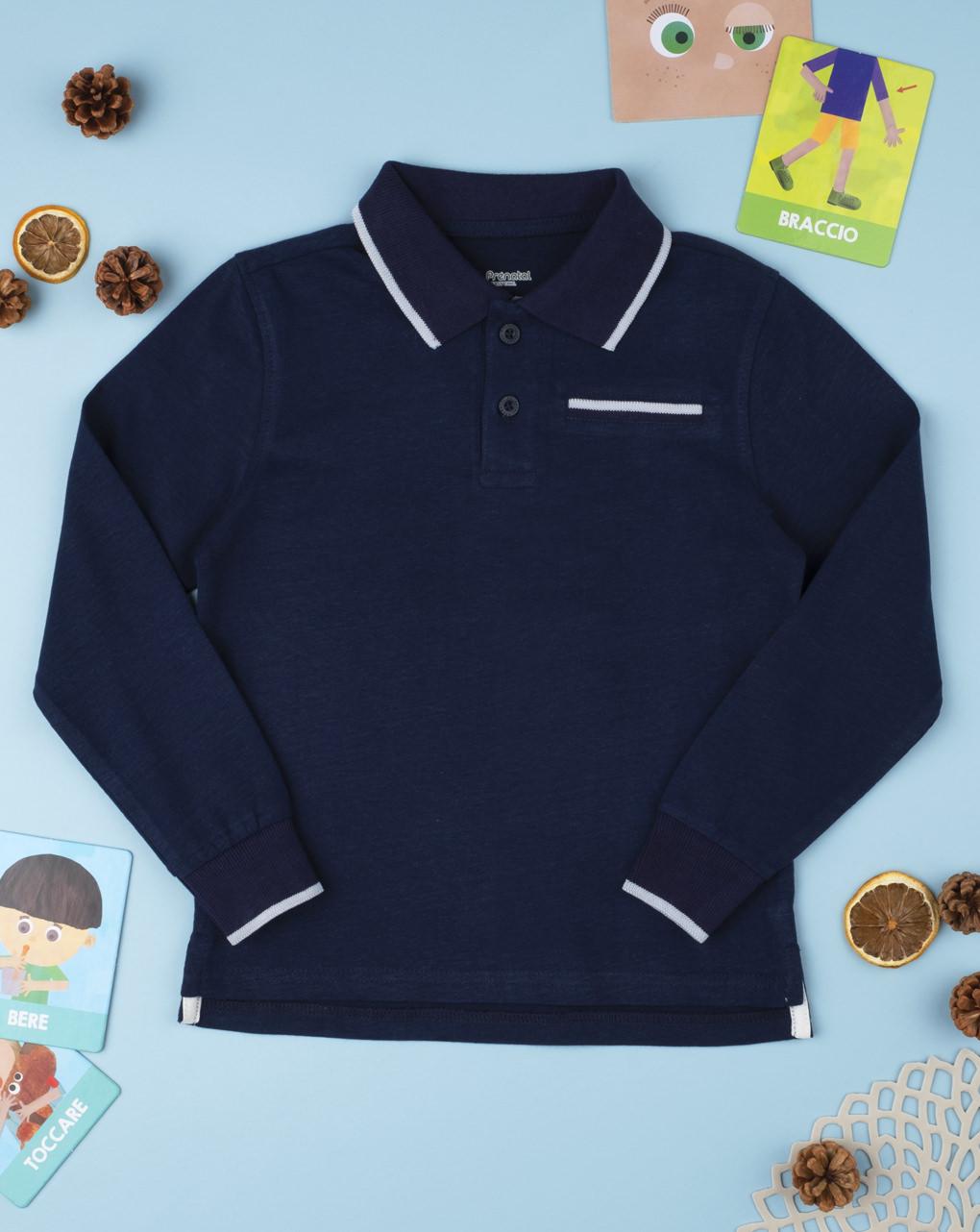 Polo boy blu medium - Prénatal