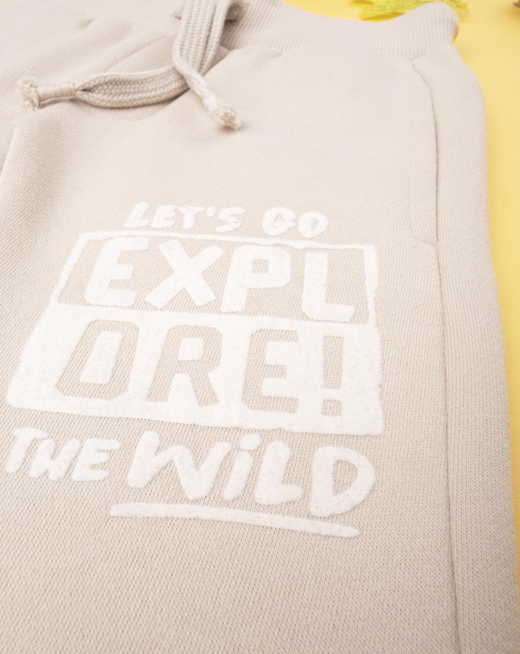 """Pantalone boy beige """"let's go explore"""" - Prénatal"""