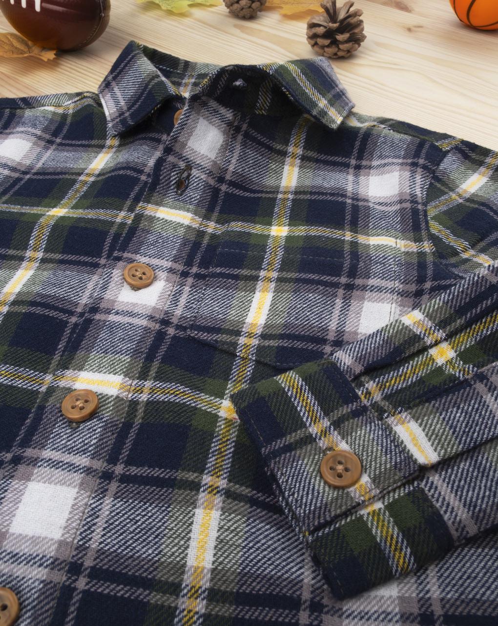 Camicia scozzese baby boy blue - Prénatal