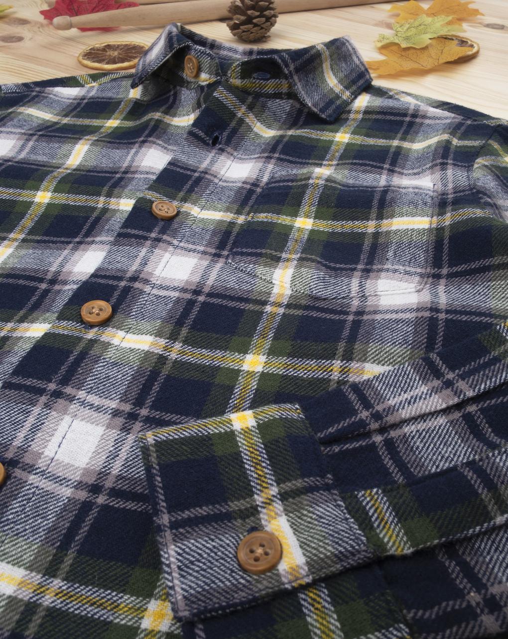 Camicia scozzese kid boy blue - Prénatal