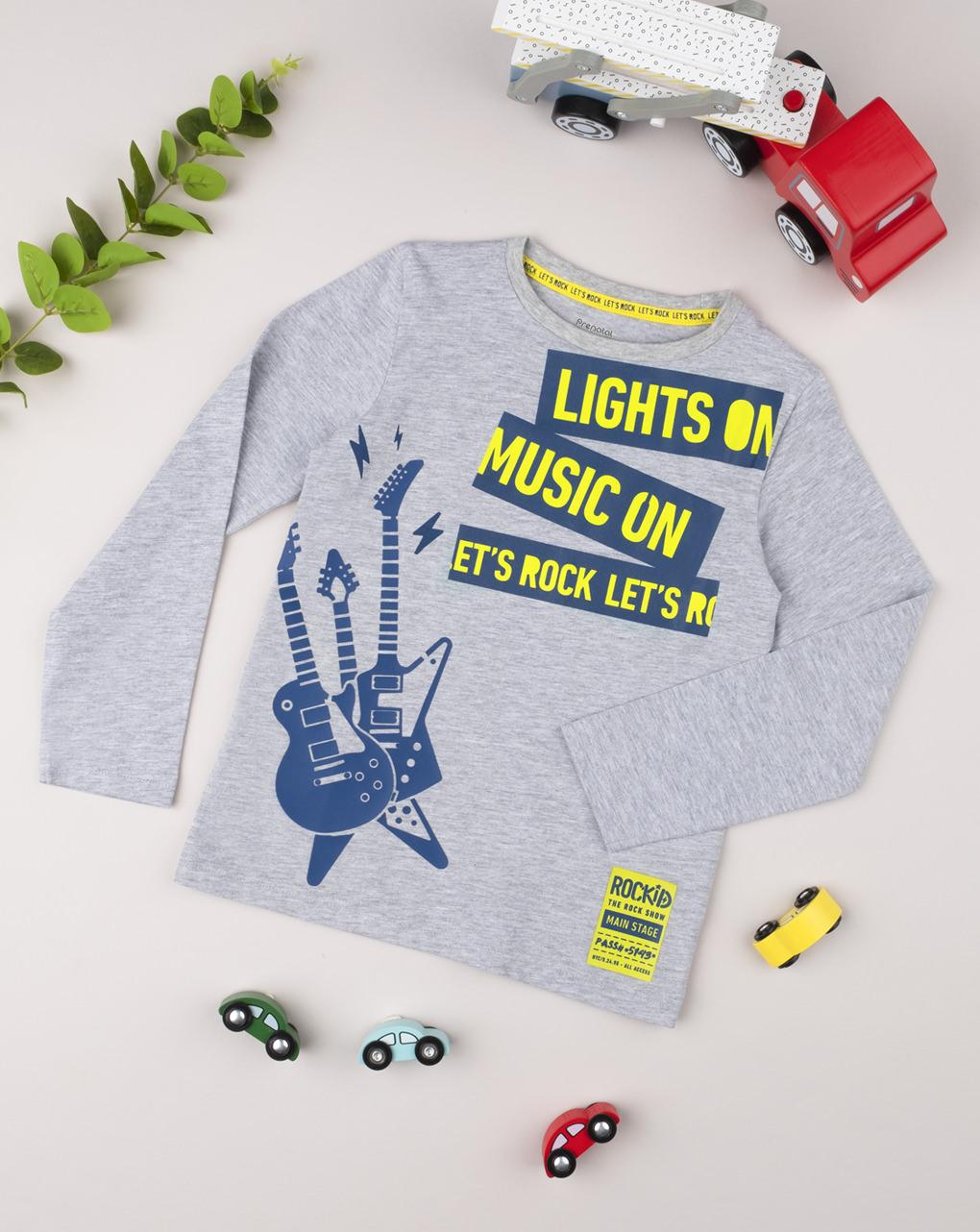 """T-shirt boy """"let's rock"""" - Prénatal"""