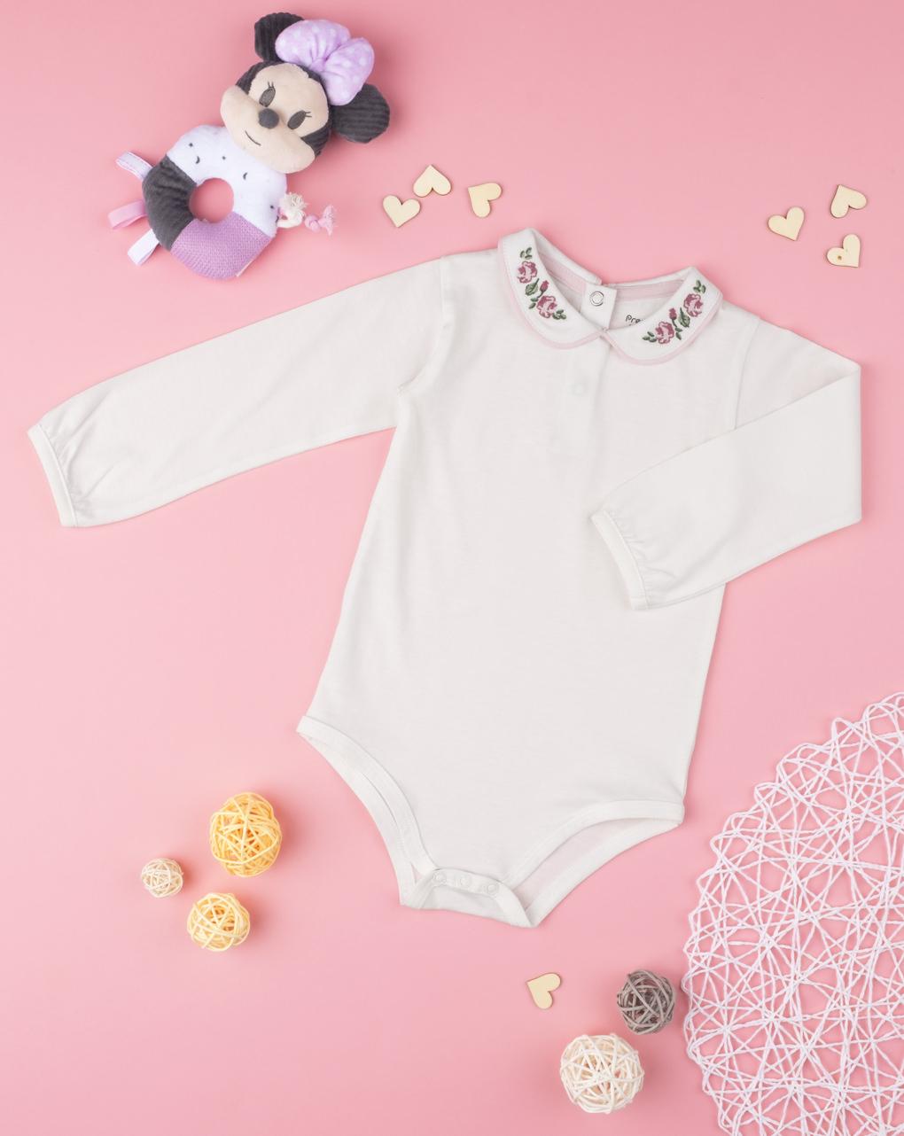 Body jersey girl con ricami - Prénatal
