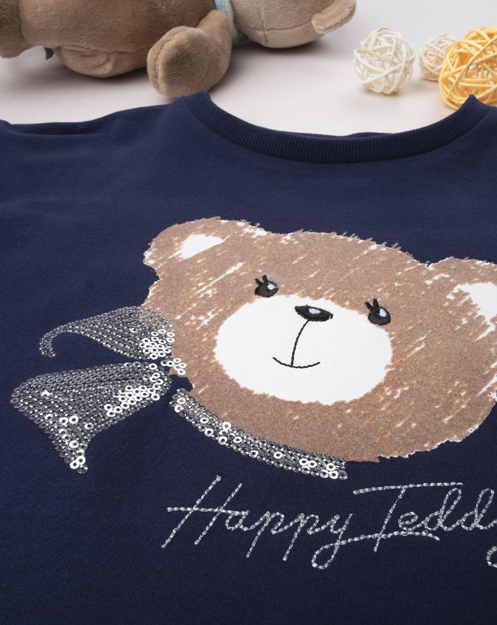 "Maglia girl ""happy teddy"" - Prénatal"