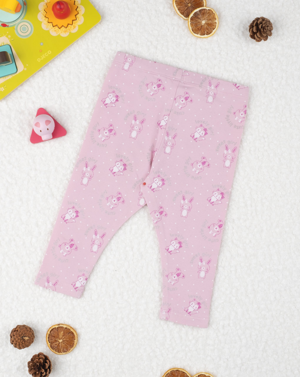 """Leggings pink """"coniglietti"""" - Prénatal"""