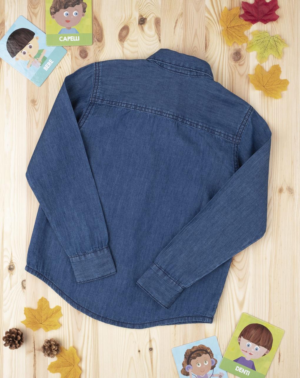 Camicia blu denim boy - Prénatal