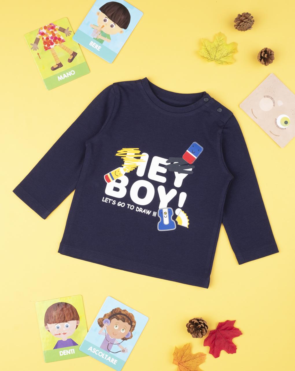 "T-shirt boy ""hey boy"" - Prénatal"