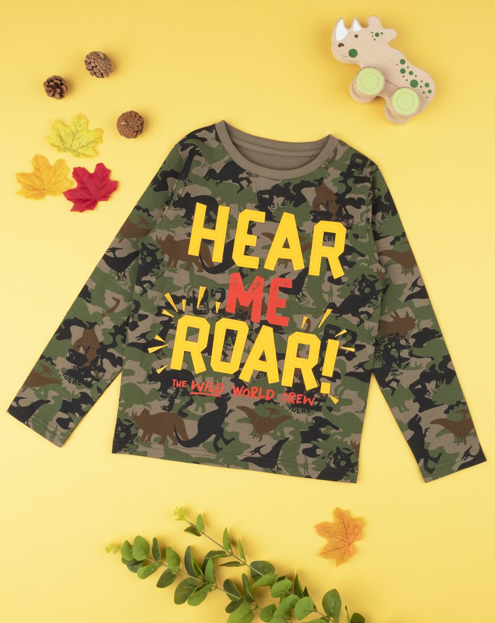 """T-shirt boy """"here me roar"""" - Prénatal"""