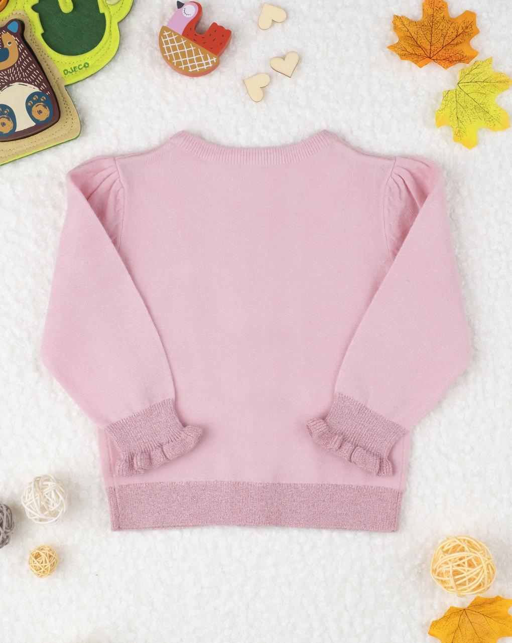 Maglia cardigan tricot girl pink - Prénatal