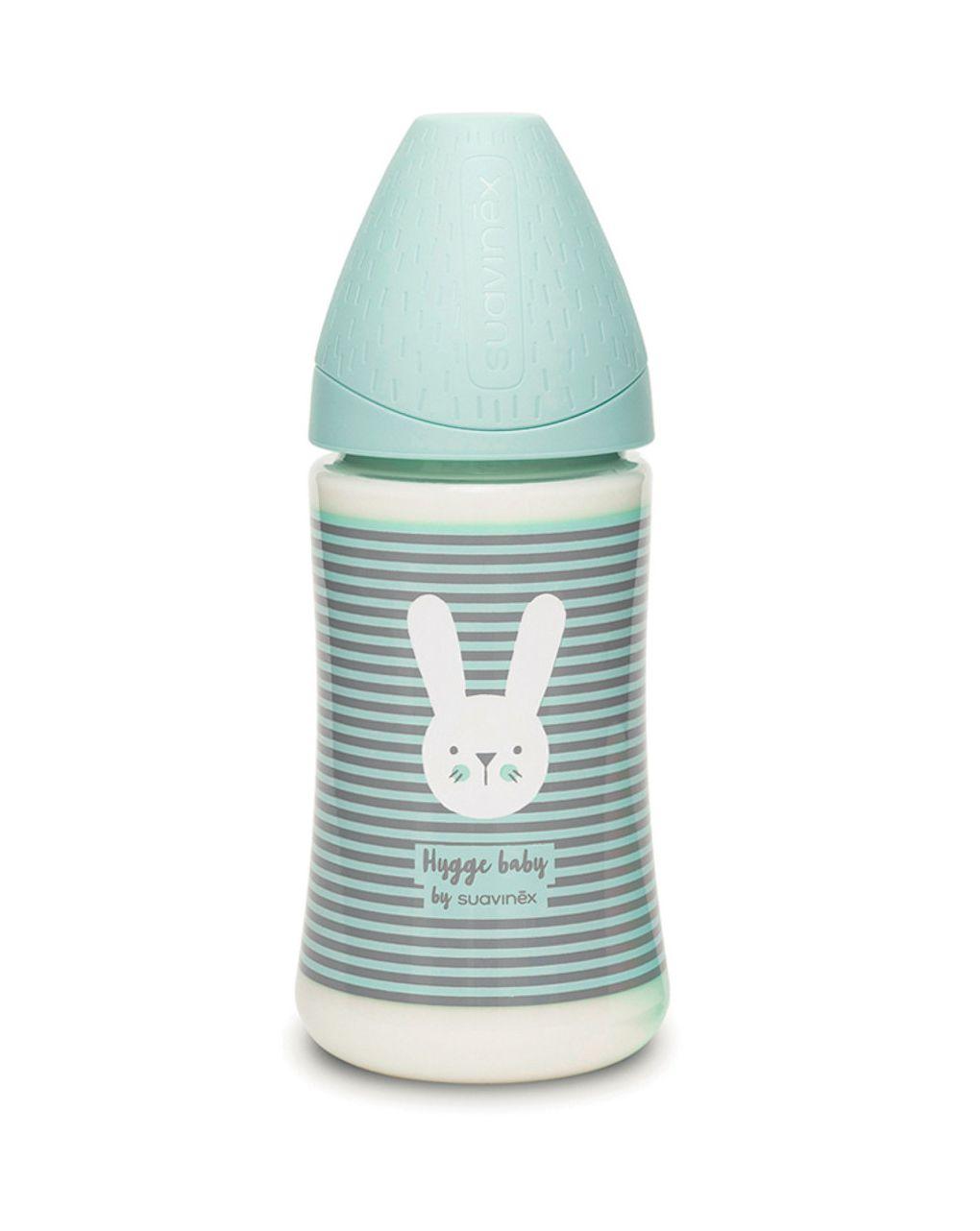 Hygge bib 270 3pos s coniglio righe verde - Suavinex