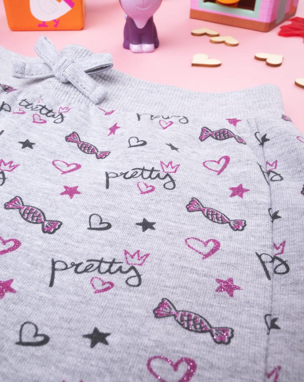 """Pantalone felpato girl """"pretty"""" - Prénatal"""