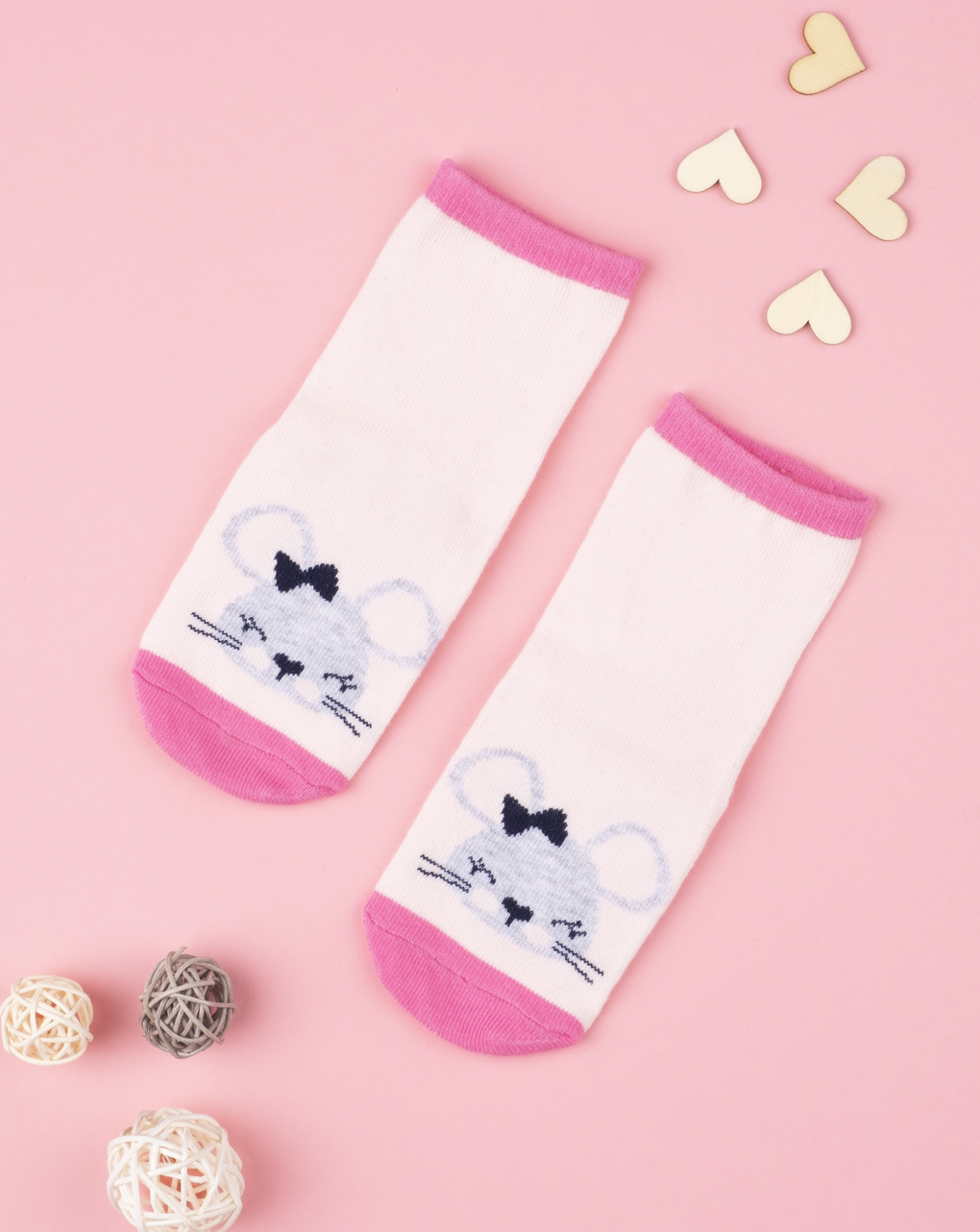 Antiscivolo baby girl animaletti pink - Prénatal