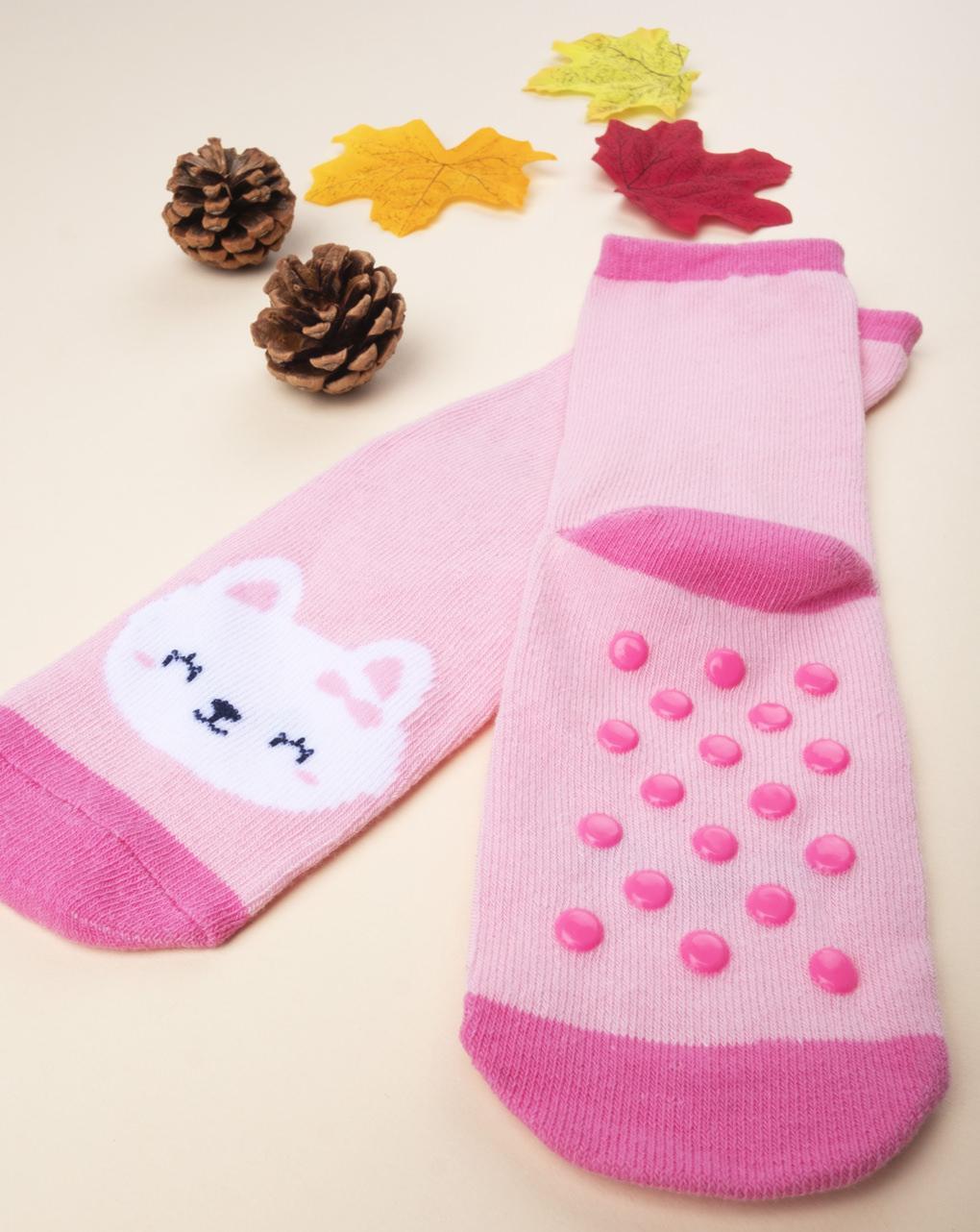 Antiscivolo girl animaletti rosa - Prénatal