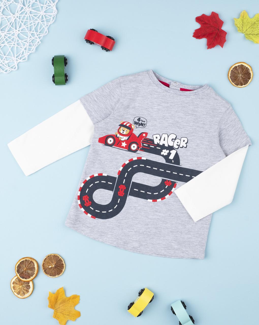 "T-shirt boy ""finta doppia"" racer - Prénatal"