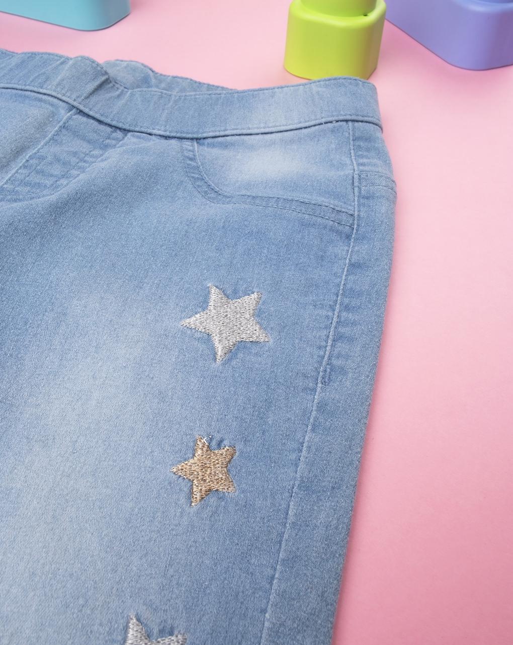 "Pantalone girl blu denim ""stelle"" - Prénatal"