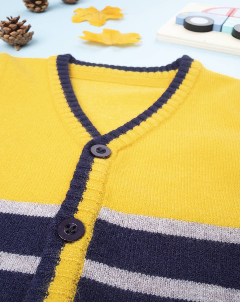 Cardigan tricot boy giallo - Prénatal