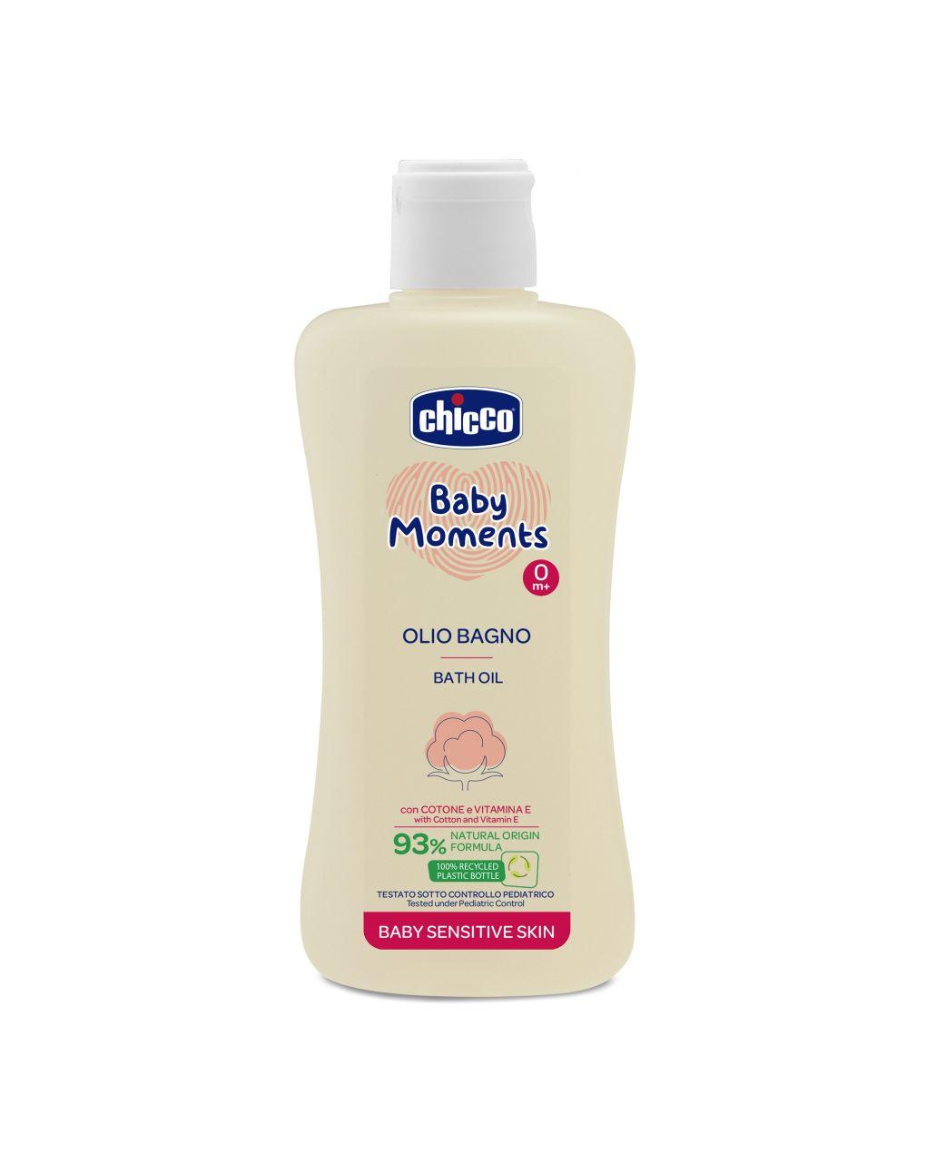 Olio bagno chicco baby moments sensitive skin - Chicco