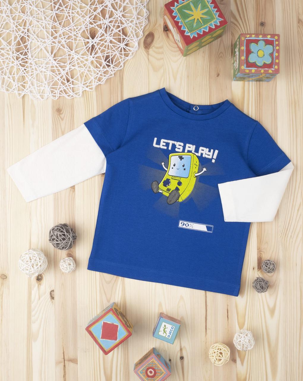 "T-shirt boy ""let's play"" - Prénatal"