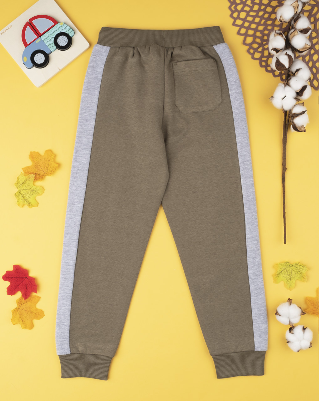 Pantalone boy verde con stripes - Prénatal