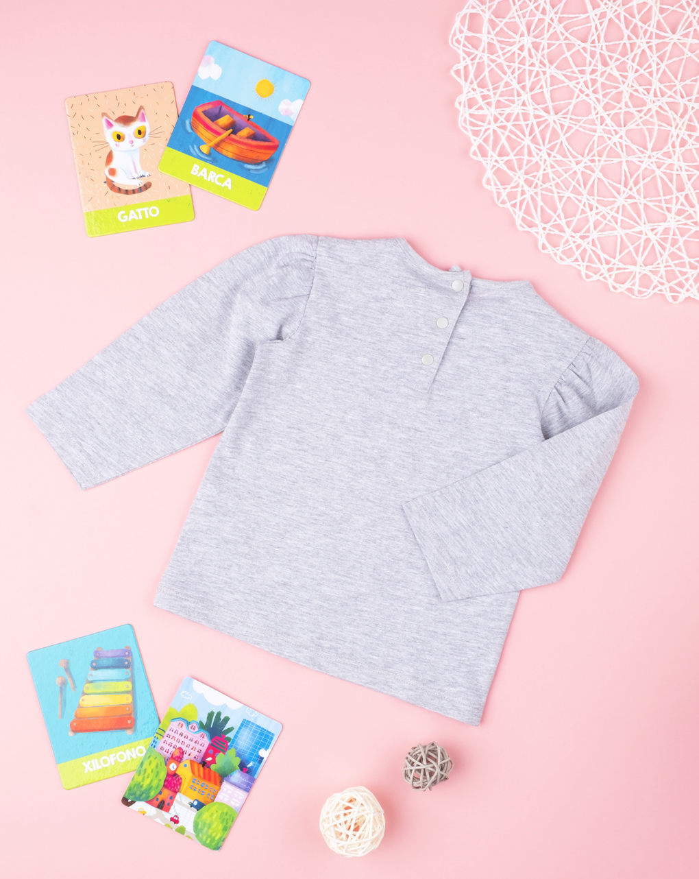 "T-shirt girl ""grey"" - Prénatal"