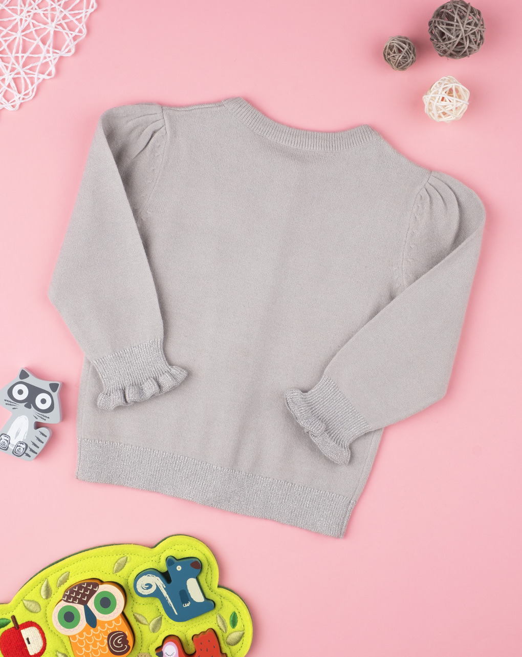 Cardigan tricot girl grey - Prénatal