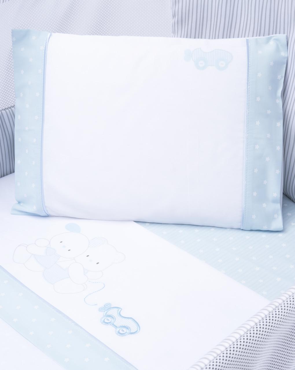 Completo culla 3 pezzi azzurro - Prénatal