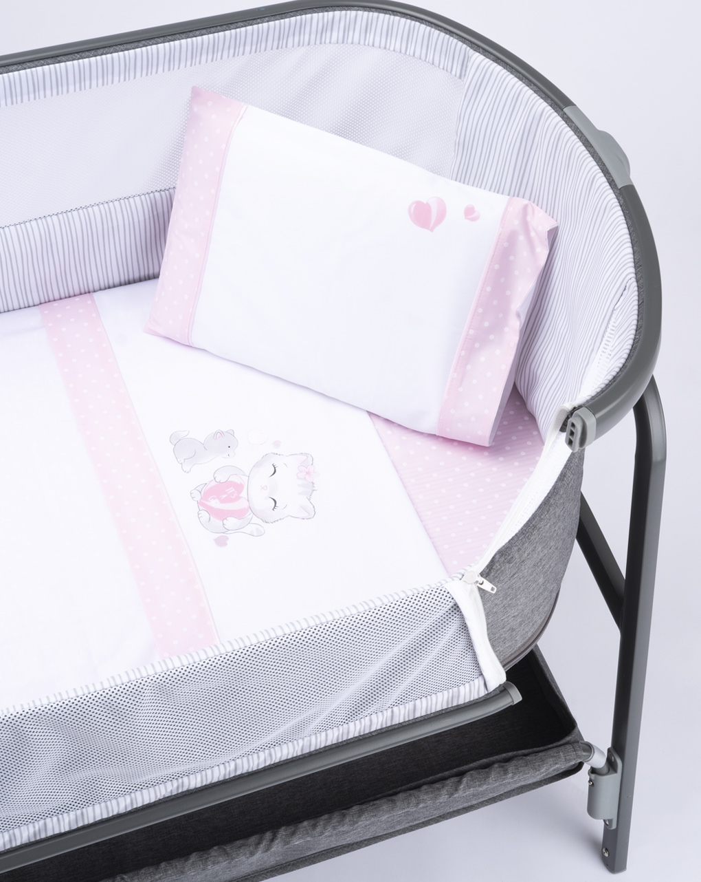Completo culla 3 pezzi pink - Prénatal