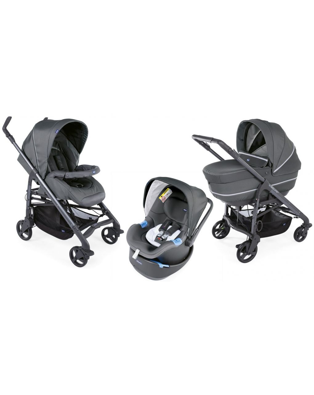 Trio chicco love up cool grey con bebècare - Chicco