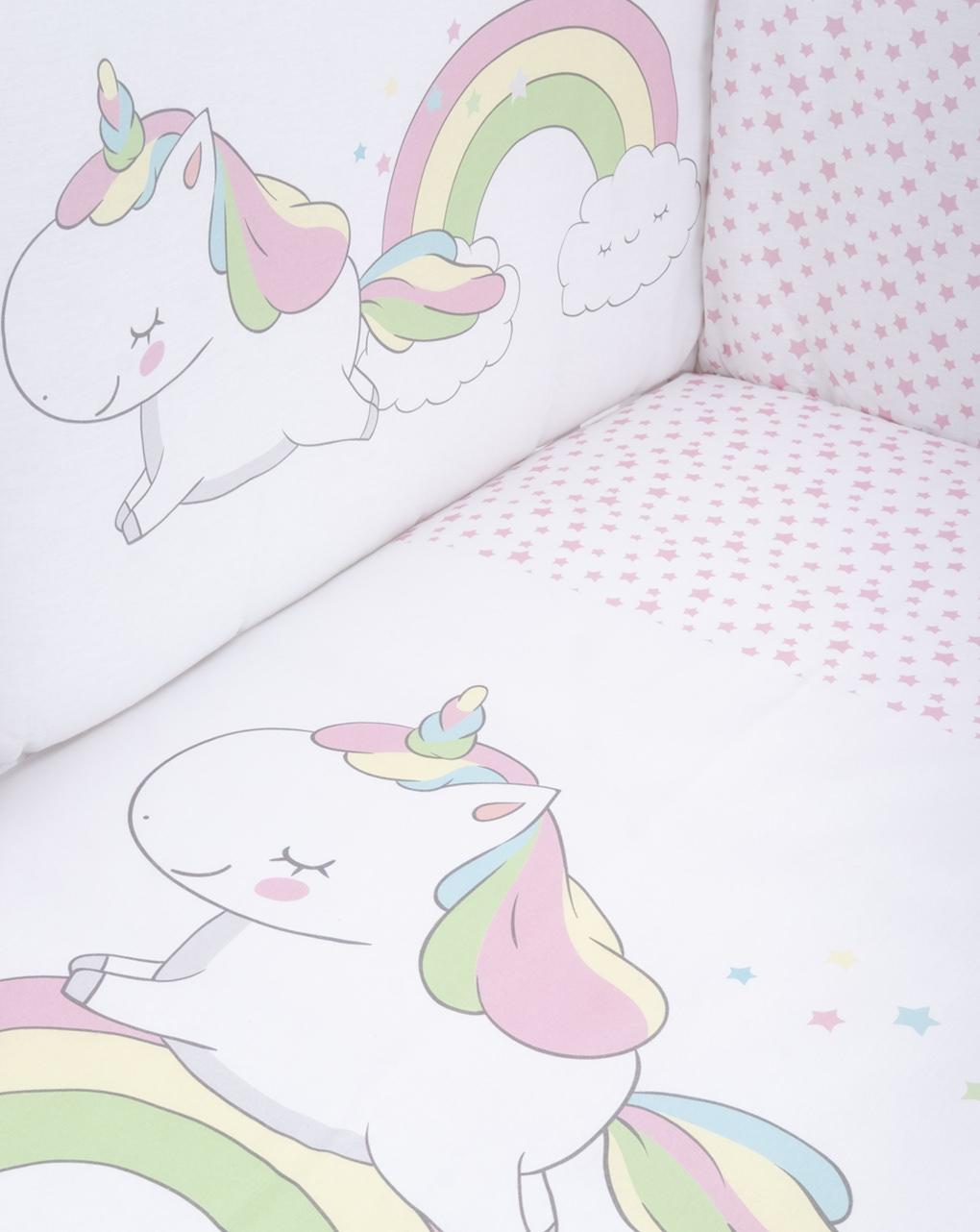 """Completo lettino 4 pz girl """"unicorno"""" - Prénatal"""