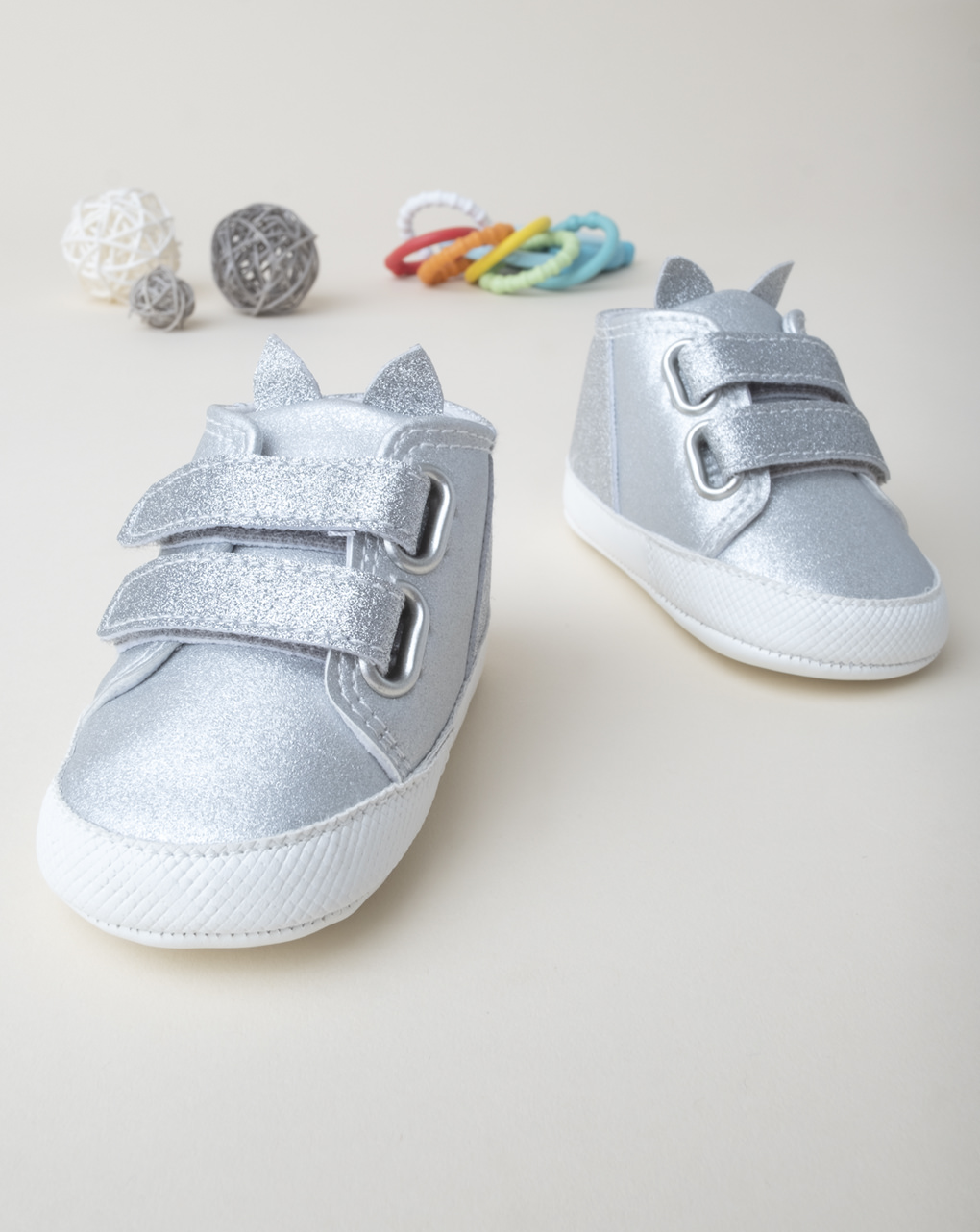 Scarpe girl glitter argento - Prénatal