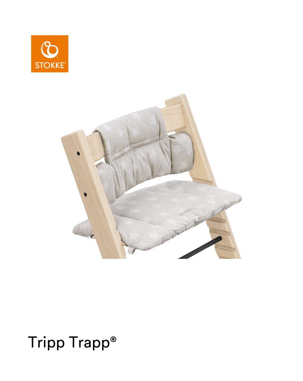 Tripp trapp® classic cushion stars silver ocs cuscino per seggiolone, morbido e avvolgente per il tuo bambino - Stokke