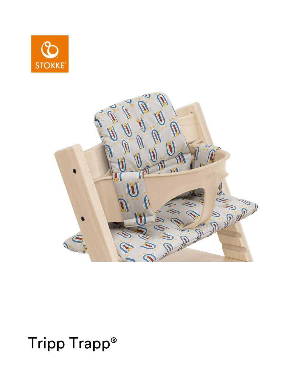 Tripp trapp® classic cushion robot grey ocs cuscino per seggiolone, morbido e avvolgente per il tuo bambino - Stokke