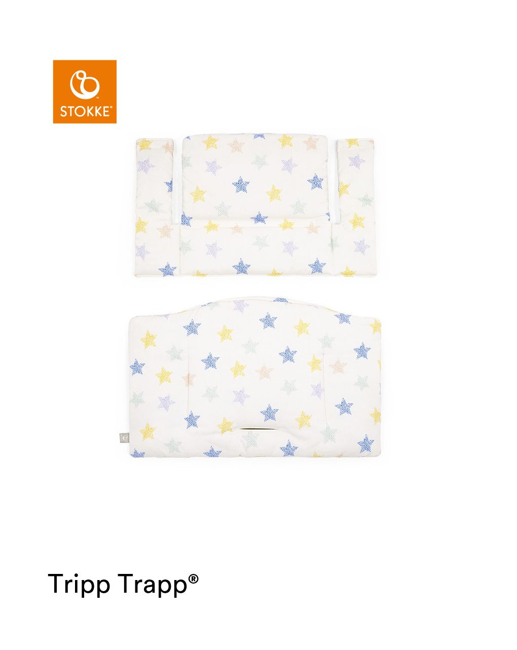 Tripp trapp® classic cushion stars multi ocs cuscino per seggiolone, morbido e avvolgente per il tuo bambino - Stokke