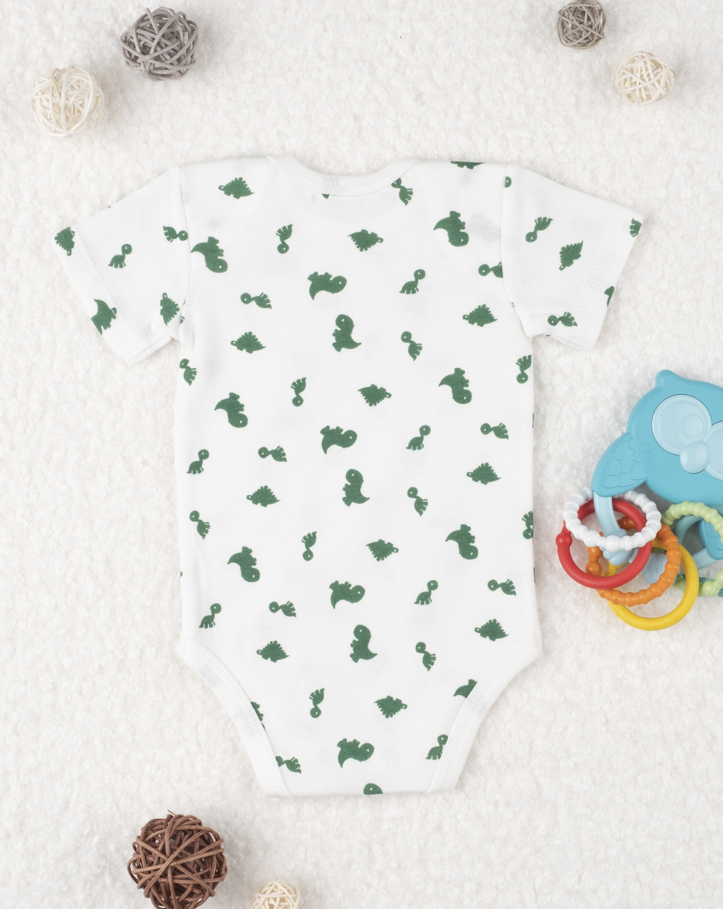 """Body boy """"dinosauri"""" verde - Prénatal"""