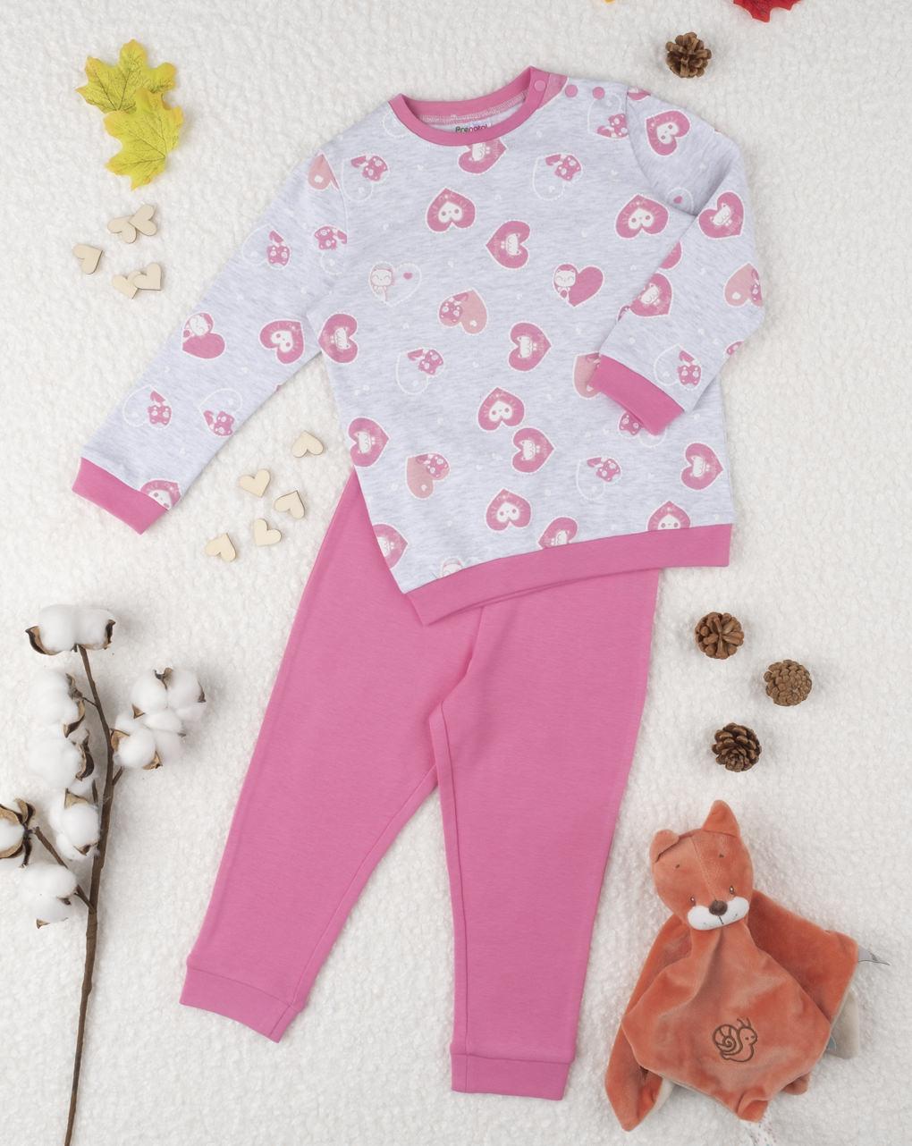"Pigiama girl ""cuori"" pink - Prénatal"