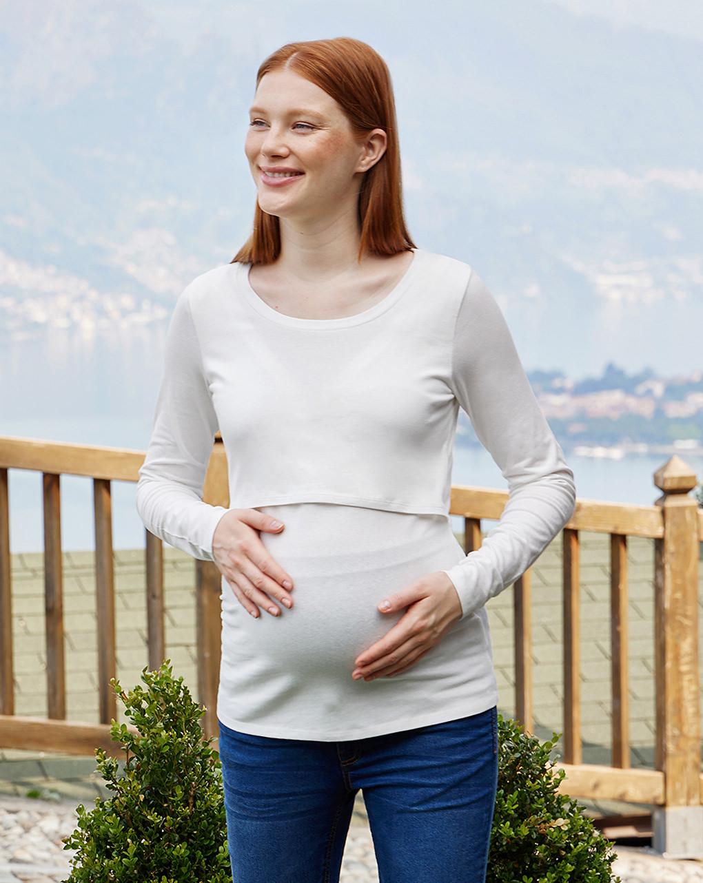 T-shirt premaman allattamento in jersey - Prénatal