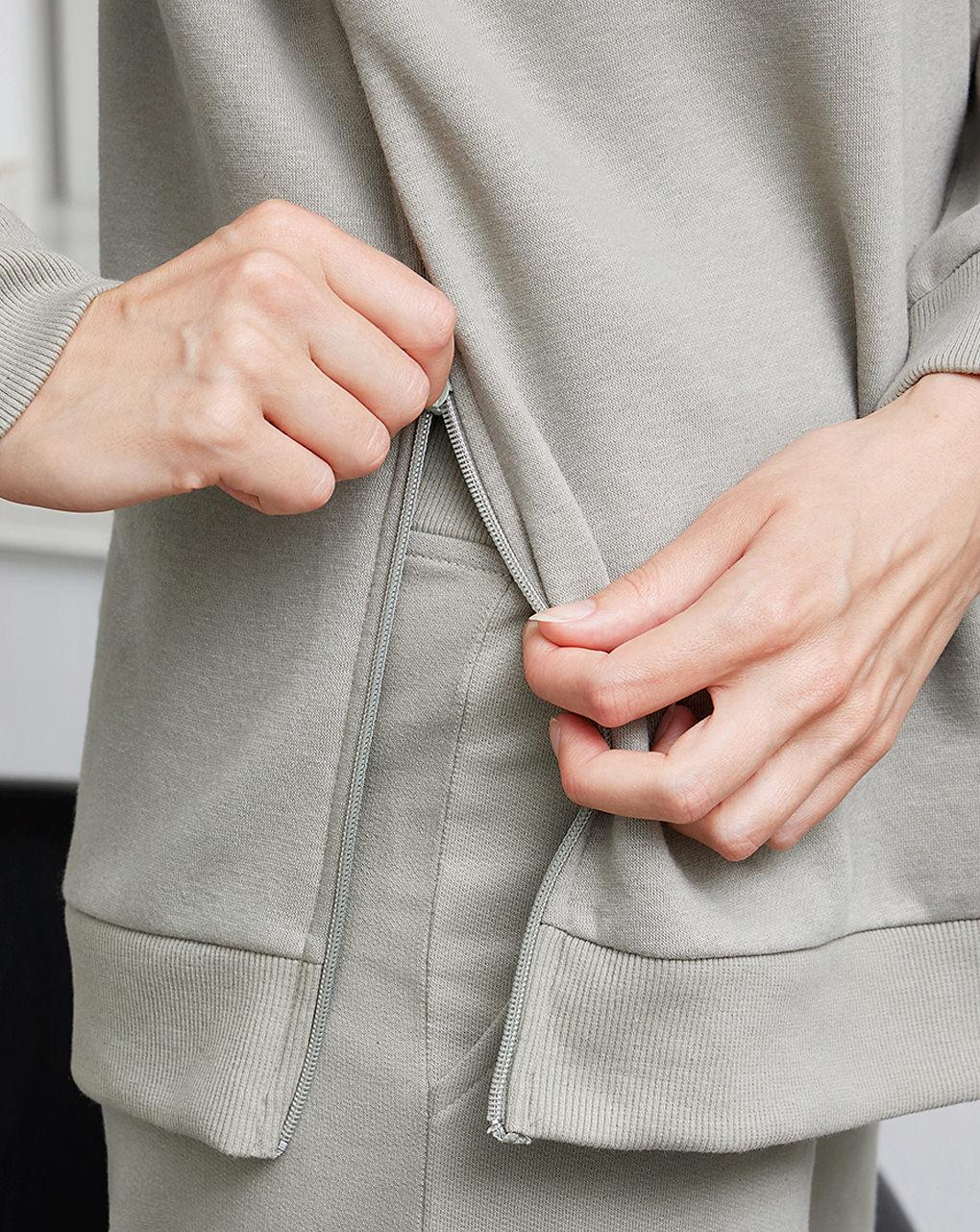Felpa premaman allattamento in cotone - Prénatal