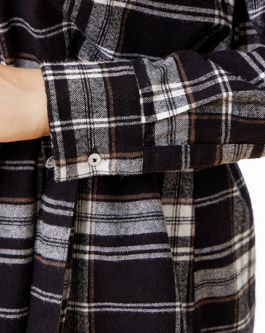 Camicia premaman allattamento in cotone check - Prénatal