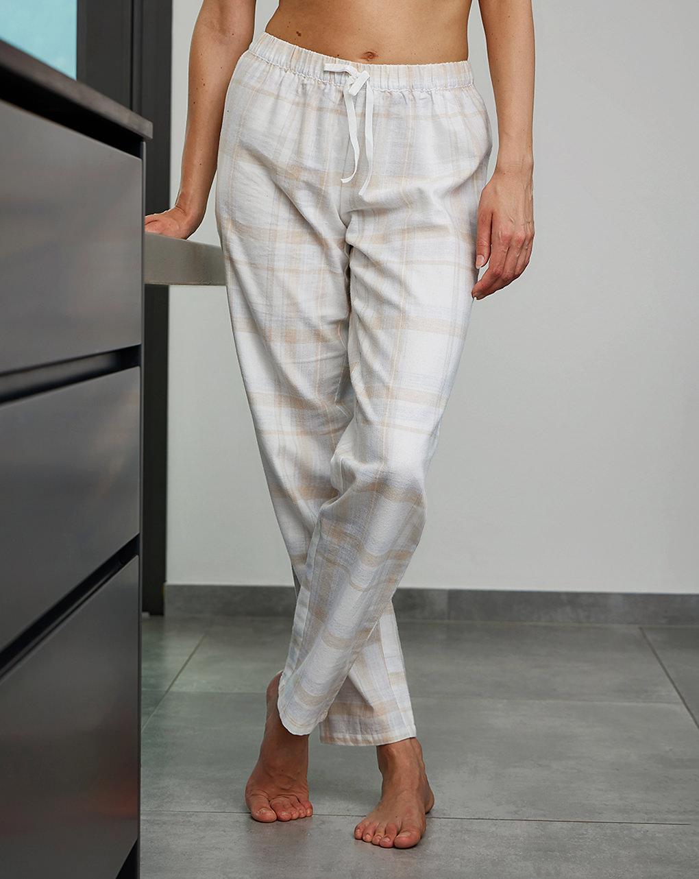 Pantalone pigiama premaman in twill di flanella - Prénatal