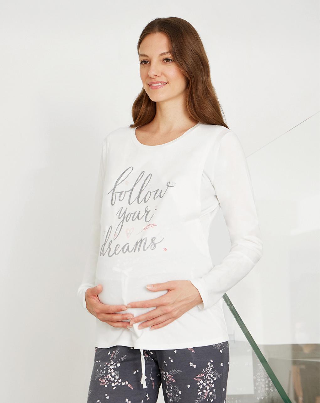 Pigiama premaman allattamento follow your dreams - Prénatal