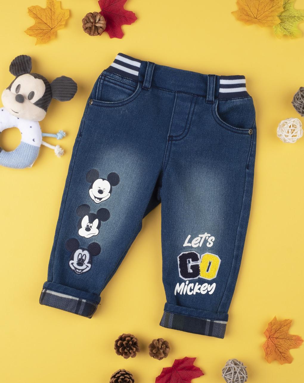 "Pantalone boy denim ""mickey mouse"" - Prénatal"