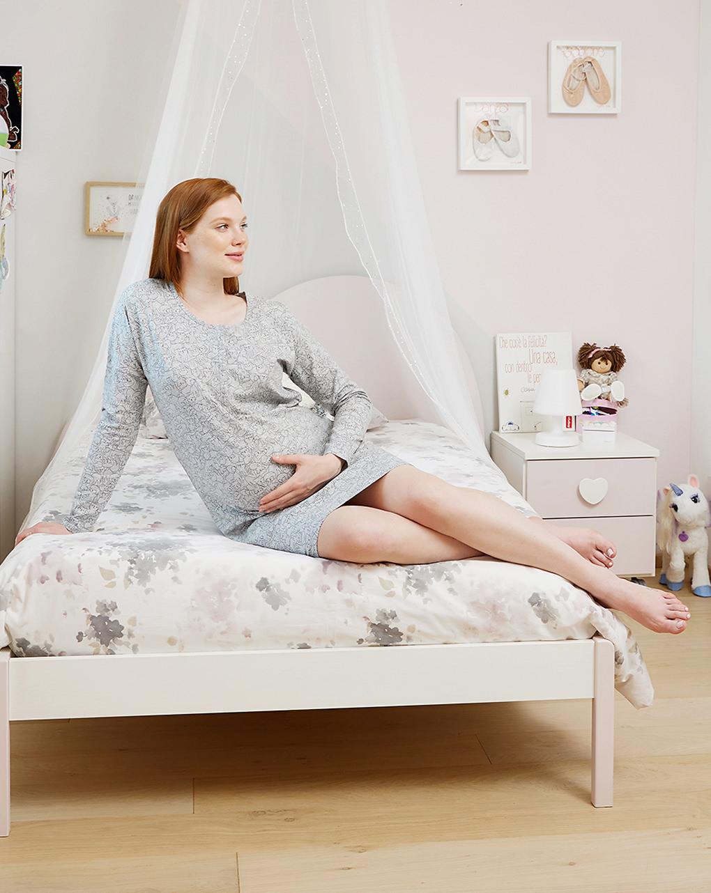 Camicia da notte premaman allattamento fantasia puppies - Prénatal
